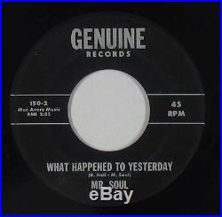 Northern Soul 45 Mr. Soul What Happened To Yesterday Genuine mp3