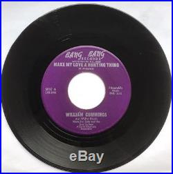 Northern Soul, R&B, William Cummings, Make My Love A Hurting Thing