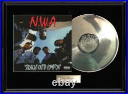 Nwa N. W. A. Rare White Gold Silver Platinum Tone Record Lp Vinyl Album Non Riaa