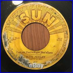 ORIGINAL SUN 217 Elvis Presley Baby Lets Play House Rockabilly RnR 45