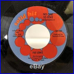 PAT LEWIS No One To Love / (I Owe You) Something RARE DETROIT Northern Soul NM