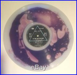 PINK FLOYD dark side of the moon PURPLE LIQUID FILLED CLEAR VINYL ART LP