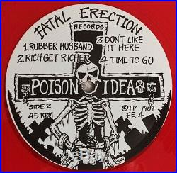 POISON IDEA Record Collectors RED MINOR THREAT BLACK FLAG NECROS NEGATIVE