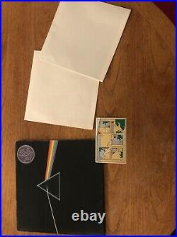 Pink Floyd-Dark side of the moon-1973-2nd Pressing. BOTH Original Posters/Sticker