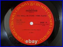 Pink Floyd The Wall In Store CBS/Sony XDAP-93012 Japan JP PROMO ONLY LP