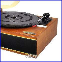 Pyle Vintage Classic Style Bluetooth Turntable Phonograph Vinyl Record Player