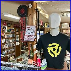 RECORD TOWN Shop Vinyl Store Plug Battery Double Sided Metal Marquee Sign Light