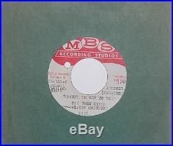 Roy Orbison. Rare Original U. S Acetate From The M. B. S Recording Studio. Mint 45