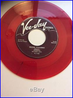 Rare Red Wax SPANIELS on VeeJay The Bells Ring Out VG++