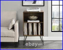 Record Player Table Vinyl Album Storage Rack Stand LP Turntable Retro Shelves