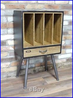 Retro Industrial Filing Cabinet Record Vinyl Record Player Storage