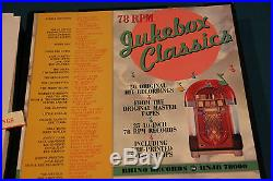 Rhino Classic Jukebox 78 Record Set, 25 Records 50's Hits on Both Sides