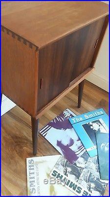 Rustic retro vintage teak sideboard vinyl LP record cabinet/storage unit 1960's