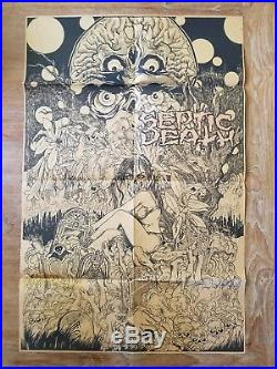SEPTIC DEATH Need So Much Attention LP 1984 PUSMORT 0012-001 with Pushead Poster