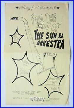 SUN RA Omniverse SATURN 91379 3 SIGNATURES (witnessed) & ORIG concert flyer