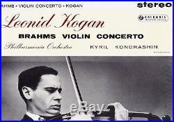Sax 2307 Uk B/s Ed1 Leonid Kogan Brahms Violin Concerto Kondrashin Nm
