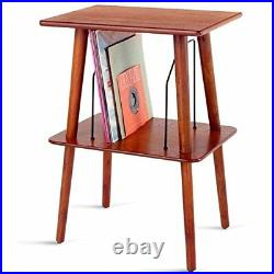 Small Retro Turntable Stand Table Record Player Vinyl LP Storage Dividers Wood