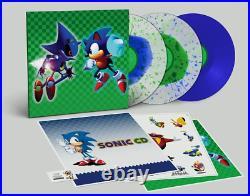 Sonic The Hedgehog Metal Sonic CD Soundtrack OST 3 LP Blue Green Splatter Vinyl