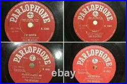 THE BEATLES 78 RPM INDIA PARLOPHONE 10 orig shellac -SET OF 13 DIFF RECORDS