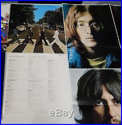 THE BEATLES Collection LP vinyl record album set of 13 + poster Japanese import