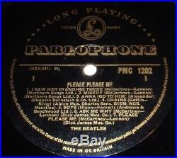 THE BEATLES Please Please Me LP 1963 BLACK & GOLD MONO 1st Press! DICK JAMES