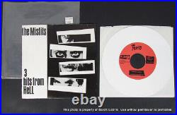 THE MISFITS 3 HITS FROM HELL 45 RMP WHITE Vinyl Record Danzig Samhain PL1013