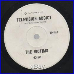 THE VICTIMS Rare 1977 Aust Only 7 OOP KBD Punk Single Television Addict
