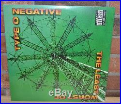 TYPE O NEGATIVE The Least Worst Of, Ltd Import 180G 2LP VINYL Gatefold New OOP