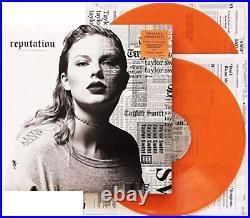 Taylor Swift Reputation Exclusive Limited FYE Orange Translucent 2x Vinyl LP
