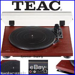 Teac TN-100 Turntable Vinyl Record Player with Preamp & USB Digital Output Cherry