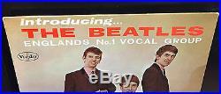 The Beatles Introducing LP VG+ 1964 Mono Vee Jay VJ VJLP 1062 Black Lbl Comma