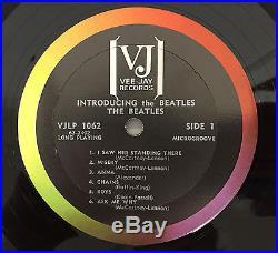 The Beatles Introducing VG+ 1964 Mono Vee Jay VJ VJLP 1062 Raibow Lbl NO Comma