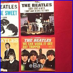 The Beatles Lot of 12 7 Vinyl Single 45 45s