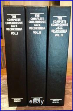 The Complete Commodore Jazz Recordings Box Set Vol. 1 2 3 Vinyl Record LP Mosaic