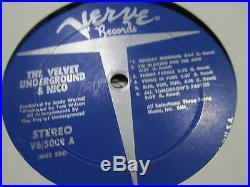 The Velvet Underground & Nico lp Banana Verve Stereo v65008'67 Andy Warhol rare