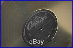 The Vintage Beatles RARE OFF CENTER LABEL Capitol LP 33 CLEAR WAX VINYL RECORD