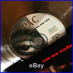 Tupac Shakur 2Pac All Eyez On Me Million Record Sales Music Award LP Vinyl