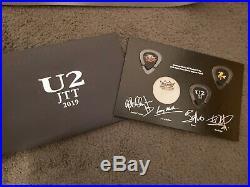 U2 Joshua Tree Tour 2019 Vip Bundle! Red Vinyl Lp Poster, Guitar Pick Set, Tote