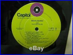 Ultra rare BEATLES 1969 vinyl lp BEATLEMANIA yes the green target label
