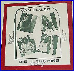 VAN HALEN DIE LAUGHING 1977 1st Pressing Record LP Vinyl Bootleg Live Empire I