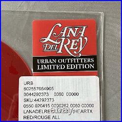 VERY RARE Lust For Life/Love Lana Del Rey Heart Shaped Red 10 Vinyl BRAND NEW