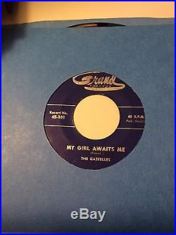 Very Rare Blue label My Girl Awaits Me Castelles Grand Vinyl VG ++
