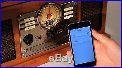 Vinyl Record Player Vintage LP Turntable CD Cassette Player FM Radio Bluetooth