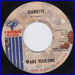 WADE FLEMONS Jeanette MEGA RARE orig northern soul 45 STOMPER! Deep soul HEAR