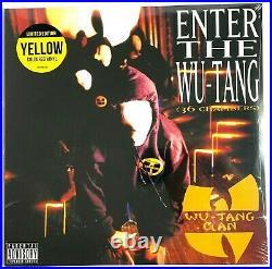 Wu-Tang Clan, Enter the Wu (36 Chambers) in-shrink LP Yellow Vinyl Record Album